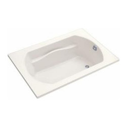 Sterling - Sterling Lawson 71281100 60x 42 in. Bathtub with Optional Apron - TBL205 - Shop for Tubs from Hayneedle.com! The 5-foot drop-in Sterling Lawson 71281100 60 in. x 42 in. Bathtub with Optional Apron is a great choice for any standard opening and is fit for both retrofit and new build scenarios. The design of this piece provides a clean look with a contemporary feel that will elevate the decor of your home bathroom. One of its most luxurious features is its carefully contoured backrest with lumbar support. Capable of holding up to 68 gallons of water this relaxing tub is ideal for the individual who enjoys a nice long soak after a hard day's work! As for the construction of this bathtub Sterling has a reputation for quality craftsmanship and like all of their other bath products; this unit is made from solid Vikrell. The compression-molded Vikrell is a Sterling exclusive that provides strength durability and a lasting beauty that you can customize with your own choice of finish. Kohler almond Kohler biscuit and pure white are all available with a coating of high-gloss that creates a smooth shiny surface which looks marvelous and is incredibly easy to clean. This CSA-certified bathtub measures 60W x 42D x 20H inches and boasts a tongue-and-groove modular design for easy snap-together installation. Receptor only; end walls and back walls can be ordered separately. About SterlingEstablished in 1907 and quickly recognized as a leading manufacturer of faucets and brassware Sterling has been known for their diversity of products and industry-leading designs for over a century. In 1984 Sterling was acquired by Kohler Co. to create a mid-priced full-line plumbing brand and allow Kohler the opportunity to sell their products in retail stores. Over the years Kohler quickly began acquiring other companies to help enhance the Sterling line of products that was quickly growing into the likes of stainless steel sinks compressed fiberglass bathtubs and enclosures and vitre