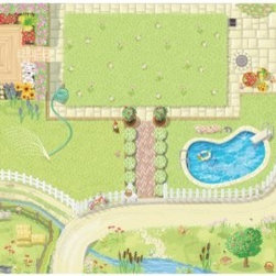 Le Toy Van Dollhouse Play Mat - Your child may have the interior figured out but with the Le Toy Van Dollhouse Play Mat they can have the landscaping taken care of too. Now the outside looks as good as the inside with a mat that gives them a lawn garden swimming pool and not a noisy neighbor in sight. Just set this mat anywhere near their dollhouse and let their imagination do the rest. About Le Toy Van Formed in 1995 with the modest intention of producing high-quality wooden toys that would only be distributed in the UK Le Toy Van added to the market with their take on traditional play sets with a dollhouse farm and castle. The reception was ultimately positive and today Le Toy Van products are offered around the world. Le Toy Van sources their wood only from sustainably farmed forests and each of their products meets or exceeds the stringent EN71 safety guidelines as well as undergoing routine safety testing by accredited organizations.