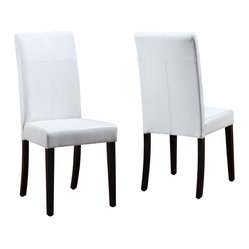 Modus Urban Seating Leatherette Parsons Chair [Set of 2]