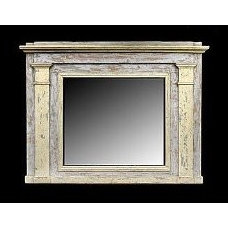 19th Century Elements Painted Mirror with Columns   ThisNext
