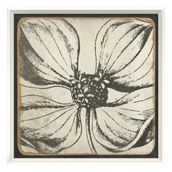 The Artwork Factory - Vintage Flower II Framed Artwork - Get up close and personal with this utterly gorgeous botanical drawing, zoomed in for a burst of bloom on your wall. Elegantly framed in wood, the floral print is available in blue, brown or vibrant yellow.