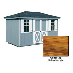Fifthroom - Cedar Lap Siding Hip Roof Sheds -