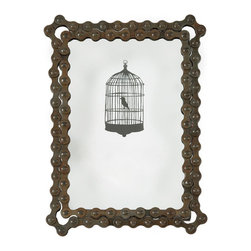 Chain Gang Picture Frame - A bike chain gets a second life here with this unconventional picture frame. Insert a picture of you in action here for constant motivation and inspiration.