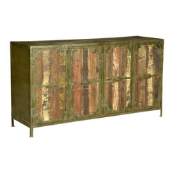 Sierra Living Concepts - Industrial Reclaimed Wood Iron 4 Door Buffet Sideboard - Manufacturing details