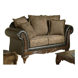 Chelsea Home Furniture - Chelsea Home Serta Ronalynn Loveseat in San Marino Chocolate Poly Cotton Blend - Ronalynn loveseat in san Marino chocolate poly cotton blend belongs to Serta collection by Chelsea Home Furniture