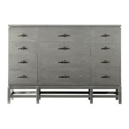 Stanley Furniture - Coastal Living Resort Tranquility Isle Dresser - The exposed frame beneath our Tranquility Isle Dresser not only physically elevates the design, it provide a touch of visual lift as well. Not to be outdone, we added even more dimensionality with a subtle cut-out that makes the top appear to be resting above the drawers and metal bar pulls that provide a touch of adornment. All in all, a dresser that performs in style. Made to order in America.