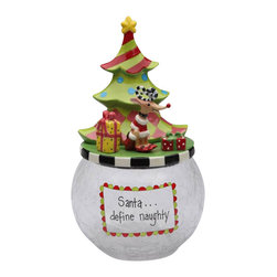 Apple Tree - Colorful Dollymama's Reindeer By Christmas Tree Glass Cookie Jar - This gorgeous Colorful Dollymama's Reindeer By Christmas Tree Glass Cookie Jar has the finest details and highest quality you will find anywhere! Colorful Dollymama's Reindeer By Christmas Tree Glass Cookie Jar is truly remarkable.