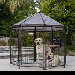 Advantek Pet Gazebo - It gets so hot in the summer, and this gazebo lets your pets enjoy a little shade outdoors with you.