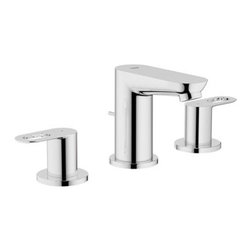 Grohe - Grohe 20225000 BauLoop WaterCare Two-Handle Widespread Lavatory Faucet - BauLoop WaterCare Two-Handle Widespread Lavatory Faucet belongs to BauLoop Collection by Grohe Designed to enhance the purity of modern architecture, the GROHE BauLoop bath line brings lightness to its surroundings through artfully finished flat surfaces that are perfectly integrated with striking loop-shaped lever handles and a cylindrical faucet body. Featuring the signature GROHE design elements, the collection carries its minimalist design aesthetic over a number of bathroom water draw-off points.  Faucet (1)