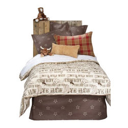 Glenna Jean - Carson Reversible Cowboy Print Children's Duvet Twin - The Carson Reversible Cowboy Print Children's Duvet by Glenna Jean will look great in any child's room.