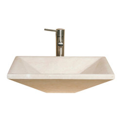 The Allstone Group - V-VGRTTP2014 Creama Marfil Polished Vessel Sink - Natural stone strikes a balance between beauty and function. Each design is hand-hewn from 100% natural stone.  Vessel sinks can be the most inspiring feature in a bathroom, adding style and beauty to any bath space.  Stone not only is pleasing to the eye but also has the feel of something natural and solid.