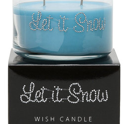 Primal Elements - Let it Snow Wish Candle - Let it Snow is a delicate blend of fragrant citrus and powdery sugar. 9.5-ounce 2-wick Wish Candles have an approximate burn time of 35-40 hours. Make a wish for yourself or share one with a friend. Our beautifully hand jeweled Wish Candles fill your space with a sparkling expression and a warm glow. Featuring our original fragrances and a unique vegetable wax blend, each Wish Candle will provide approximately 35-40 hours of twinkling burn time.