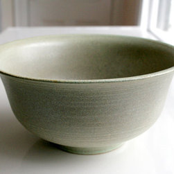 Kaska Large Pistachio and Grey Bowl by Leili Design - This gorgeous stoneware bowl from LeliliDesign is a piece you'll have for a lifetime, and will take you from fruit on your counter, to salad on your dinner table, and everything in between.  Instead of keeping special pieces out of harm's way, up on a shelf and collecting dust, weave them into your everyday use for you and your family to enjoy often.  Food prep, and food consumption, are visceral activities shared with loved ones and should be fully experienced with serving vehicles worthy of the grandest occasions.