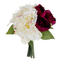 Silk Plants Direct - Silk Plants Direct Peony Bouquet (Pack of 6) - Pack of 6. Silk Plants Direct specializes in manufacturing, design and supply of the most life-like, premium quality artificial plants, trees, flowers, arrangements, topiaries and containers for home, office and commercial use. Our Peony Bouquet includes the following: