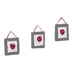 Sweet Jojo Designs - Little Ladybug Wall Decor - The Little Ladybug  Wall Decor by Jojo Design include 3 wall hangings that will add a designers touch to any childs room! These childrens wall hangings are handcrafted with care and will brighten any childs room or nursery.