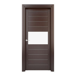 Solid Wood Interior Door –  Model: W30gs, 29x80 - Doors are made of solid wood construction covered with textured laminate, Frames are produced using solid wood covered in laminate. Moldings are plywood covered in laminate.