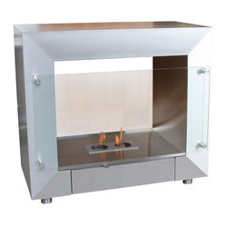 Terra Flame - Transition Standard Box Firespace - Gather 'round — it's time to get cozy in style. You don't have to be a homeowner or undergo a big renovation to include a fireplace in your space. This movable box burns cleanly and requires no chimney or fixed location to warm up a home. Made to order.