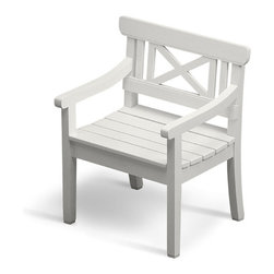 Skagerak Denmark - Drachmann Chair - Add some timeless elegance to your patio or garden with this pretty Bernt Santesson piece. Designed in classic Scandinavian style with a cross back and slatted seat, it's the perfect chair for every outdoor occasion.