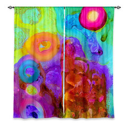 "DiaNoche Designs - Window Curtains Lined by China Carnella Finding Equilibrium - Purchasing window curtains just got easier and better! Create a designer look to any of your living spaces with our decorative and unique ""Lined Window Curtains."" Perfect for the living room, dining room or bedroom, these artistic curtains are an easy and inexpensive way to add color and style when decorating your home.  This is a woven poly material that filters outside light and creates a privacy barrier.  Each package includes two easy-to-hang, 3 inch diameter pole-pocket curtain panels.  The width listed is the total measurement of the two panels.  Curtain rod sold separately. Easy care, machine wash cold, tumble dry low, iron low if needed.  Printed in the USA."