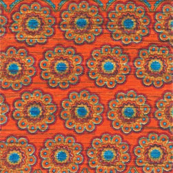 """Loloi Rugs - Loloi Rugs Aria Collection - Orange / Multi, 2'-3"""" x 3'-9"""" - Expressive and relaxed, stylish and fun. The Aria Collection from India has it all. Pretty paisley patterns, flourishing flowers, dreamy damasks and magical medallion designs are printed onto 100% recycled cotton Chindi for scatter rugs that are flirty and fashionable. Dressed in a palette of bold, saturated colors that take you from cool blues and pinks to warm spice tones and modern tropical hues, too, Aria rugs come in select scatter sizes that will accent choice spaces with flair."""