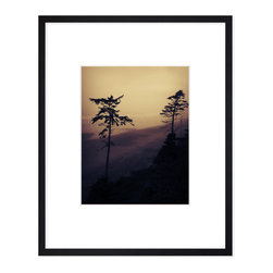 """Hip Pictures - """"Low Tide"""" - 11x14 - Eco-Friendly Black Rubberwood Frame 16x20 - The sun didn't come out much during this camping trip to the Washington coast, but it didn't really matter. This was shot of the beach in a minimally-inhabited part of the Washington coast, south of the Olympic National Forest on the Quinault Reservation."""