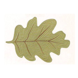 C F enterprises - Red Oak Leaf Placemat, Sage - High quality quilted placemats by C F Enterprise transform your table in fresh colors and styles.