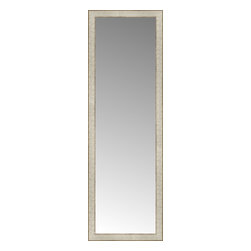 """Posters 2 Prints, LLC - 17"""" x 51"""" Libretto Antique Silver Custom Framed Mirror - 17"""" x 51"""" Custom Framed Mirror made by Posters 2 Prints. Standard glass with unrivaled selection of crafted mirror frames.  Protected with category II safety backing to keep glass fragments together should the mirror be accidentally broken.  Safe arrival guaranteed.  Made in the United States of America"""