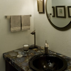 Contemporary Vanity Tops And Side Splashes by Habitat Stone