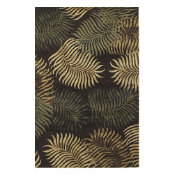 KAS - Havana 2617 Expresso Fern View Rug by Kas - 2 ft 3 in x 8 ft Runner - Available in a variety of floral patterns, the Havana Collection draws its inspiration from the deep tropical and floral stylings. Hand tufted of premium wool, these rugs are extremely durable and hold up to years of traffic. The distinct color combinations help accent every home decor and makes these rugs great for any home decor.