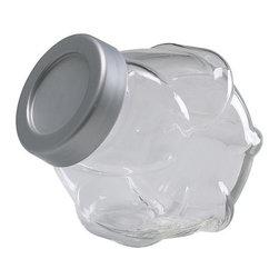 Carl Öjerstam - FÖRVAR Jar with lid - Jar with lid, glass, aluminum color