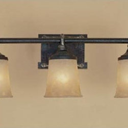 Designers Fountain - Austin Weathered Saddle Three-Light Bath Fixture - Austin Weathered Saddle Three-Light Bath Fixture Designers Fountain - 97303-WSD