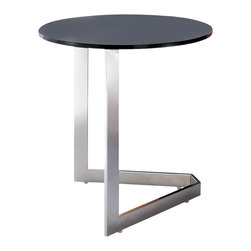 Armen Living - Toro End Table Stainless Steel with Glass Top - Simplicity meets a modern twist in these tables that look sleek and delicate yet also provides a sturdy and useful purpose.
