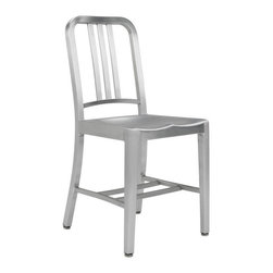 Navy Chair in Brushed Aluminum - Navy Chair in Brushed Aluminum
