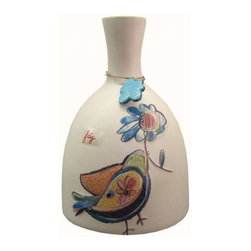 """WL - 6 Inch """"Fly"""" Small Bird with Flower 6 Inch Vase Collectible Decor - This gorgeous 6 Inch """"Fly"""" Small Bird with Flower 6 Inch Vase Collectible Decor has the finest details and highest quality you will find anywhere! 6 Inch """"Fly"""" Small Bird with Flower 6 Inch Vase Collectible Decor is truly remarkable."""