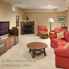 basement by Griffey Remodeling