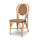Palecek - Patio Metal Chair - Steel frame. Seat and back woven with high-quality UV resistant plastic. Suitable for indoor and outdoor use.