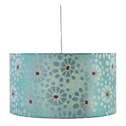 Cool Poppy Pendant - We love this poppy-fresh pendant and imagine it hanging above your kitchen table. Its cool color scheme won't distract from your existing decor and will add a breath of fresh air (and warm light) no matter where you decide to hang it.