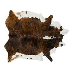 #N/A - Cow Hide Rug in Dark Tri Color Special XL - Cow Hide Rug in Dark Tri Color Special XL. Hair on Hide Rug Natural Form