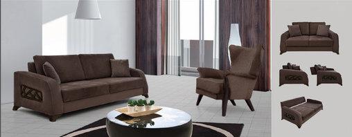 Fabric Sofa Living Room Set - ANGELA -