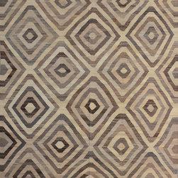 "ALRUG - Handmade Beige Oriental Kilim  8' 4"" x 11' 7"" (ft) - This Afghan Kilim design rug is hand-knotted with Wool on Wool."
