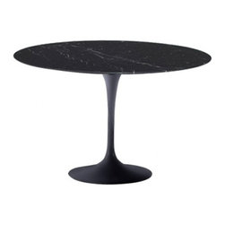 Fine Mod Imports - Flower Black Marble Top Table - Features: