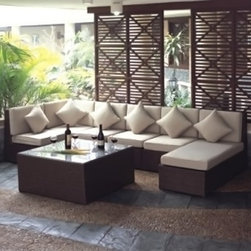 TOSH Furniture - Cherry Sofa Set - TOS-GW0021SET - Single sofa comes with 1pc 80mm seat cushion, 1pc 80mm back cushion and 1pc 410x410x150mm pillow.