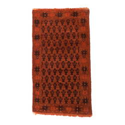 West of Hudson - Overdyed Vintage Tribal Burnt Orange Rug, 2.5x4.4 Ft. - Handknotted one of a kind over-dyed rug with vibrant colors. West of Hudson is proud to offer authentic vintage and new hand knotted rugs that that are carefully selected for our exclusive overdye collection. Each rug is a unique work of art. 100% handmade from start to finish.