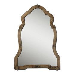 Uttermost - Uttermost 07632 Agustin Light Walnut Mirror - Uttermost 07632 Agustin Light Walnut Mirror