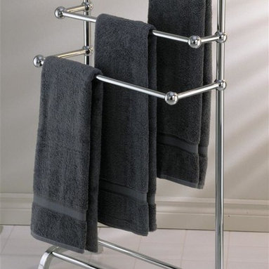 Taymor - Taymor Floor Valet (Chrome) - Finish: ChromeFloor standing. Holds up to six towels. Can be used with quilts, blankets or comforters. Wipe with clean and soft damp cloth. Do not use polishes, chemicals or abrasives. Manufacture Warranty: 1 year. Made from plated steel. Minimal assembly required. 10 in. W x 25 in. D x 37 in. H (18 lbs.)