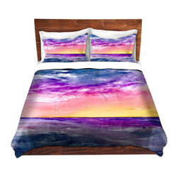 DiaNoche Designs - Duvet Cover Microfiber by Brazen Design Studio - Tormenta - DiaNoche Designs works with artists from around the world to bring unique, artistic products to decorate all aspects of your home.  Super lightweight and extremely soft Premium Microfiber Duvet Cover (only) in sizes Twin, Queen, King.  Shams NOT included.  This duvet is designed to wash upon arrival for maximum softness.   Each duvet starts by looming the fabric and cutting to the size ordered.  The Image is printed and your Duvet Cover is meticulously sewn together with ties in each corner and a hidden zip closure.  All in the USA!!  Poly microfiber top and underside.  Dye Sublimation printing permanently adheres the ink to the material for long life and durability.  Machine Washable cold with light detergent and dry on low.  Product may vary slightly from image.  Shams not included.