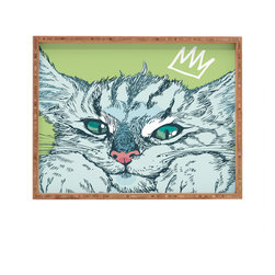DENY Designs - Geronimo Studio Cat Attack Rectangular Tray - With DENY'S multifunctional rectangular tray collection, you can use it for decoration in just about any room of the house or go the traditional route to serve cocktails. Either way, you'll be the ever so stylish hostess with the mostess!