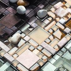 Contemporary Mosaic Tile by American Tile and Stone/Backsplashtogo