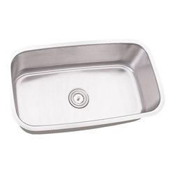 "TCS Home Supplies - 32 Inch Stainless Steel Undermount Single Bowl Kitchen Sink - 16 Gauge - Premium 16 Gauge Stainless Steel Kitchen Sink. Single Large Bowl. Undermount Installation. Brushed Stainless Steel Finish. Dimensions 31-1/2"" x 18-1/2"" x 9""."