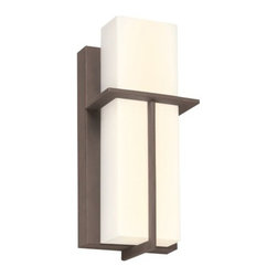 Philips Forecast Lighting - Loft Wall Sconce by Philips Forecast Lighting - The handsome design of the Loft Wall Sconce by Philips Forecast Lighting offers clean-cut lines in tranquil tones. Loft features a bold rectangular wall plate topped with a fresh White shade. This tailored silhouette casts a refreshing brilliance perfect for the modern bedroom, foyer, or hallway. Available in two finish options For more than 40 years, Philips Forecast has offered their distinctive line of contemporary yet accessible lighting for the home. The Philips Forecast lighting collection runs the gamut of modern design, from simple and transitional to organic to modern industrial. Whatever the style of the fixture may be, attention to detail and quality ensures that it will illuminate and enhance spaces indoors or out for many years.